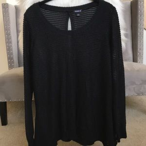 Torrid Botton Back Sweater || Black || Size 1